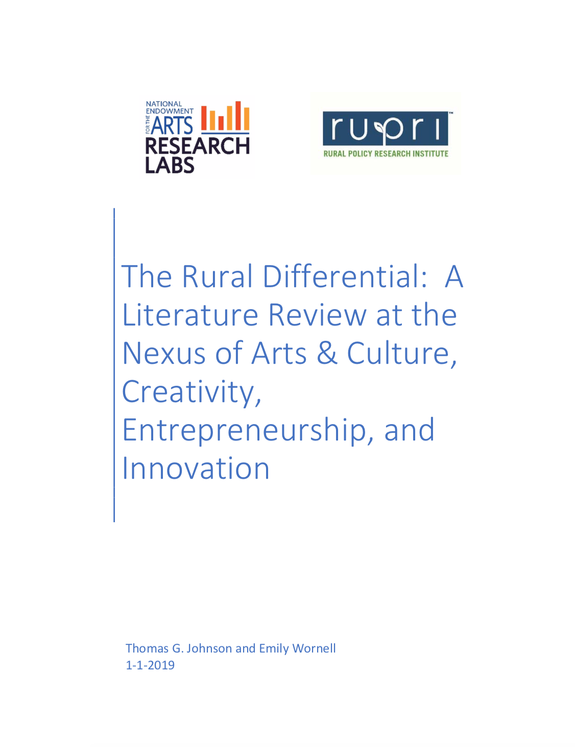 The Rural Differential Lit Review (Cover Image)